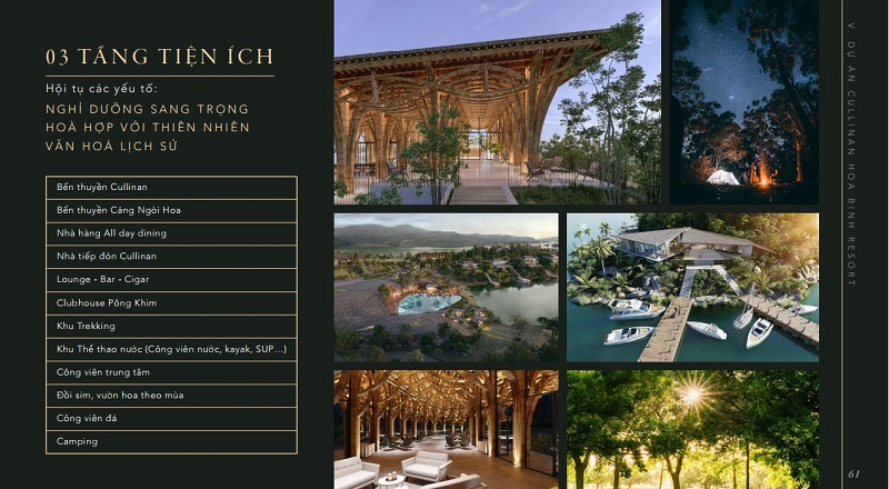 Tiện ích Cullinan Resort Hòa Bình
